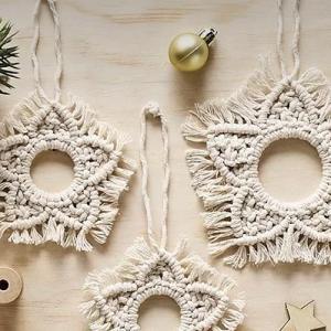 macrame snowflak christmas tree decoration